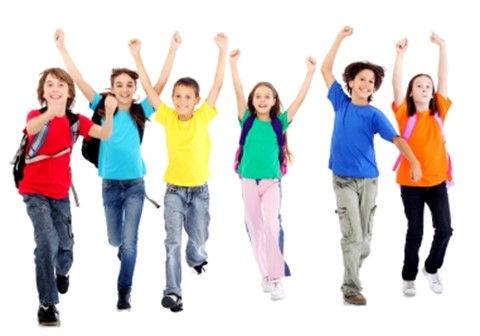 Happy kids who are joyful learners