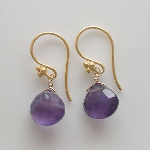 Beautiful Amethyst & Vermeil Earrings
