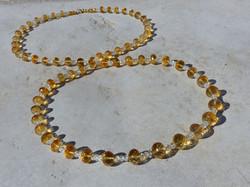 Citrine Rondelle Necklace