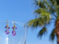Amethyst Pear Earrings