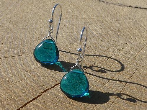 Teal Quartz Earrings