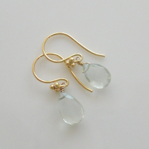 Beautiful Green Amethyst & Vermeil Earrings