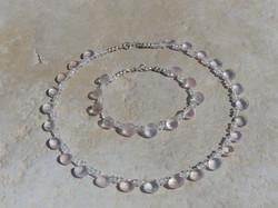 Rose Quartz Necklace + Bracelet
