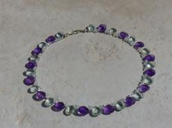 Green Amethyst + Amethyst Necklace