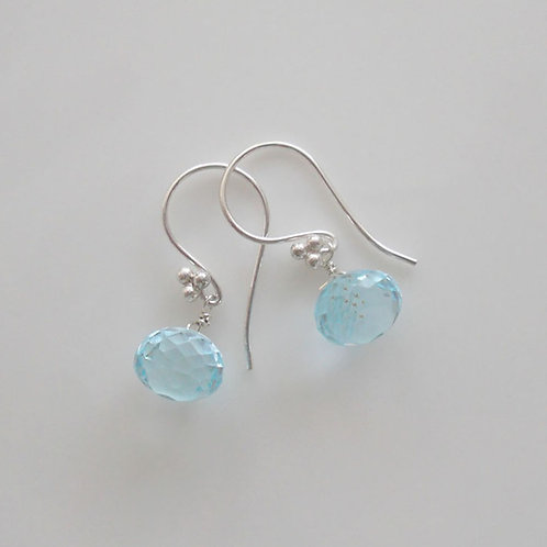 Gorgeous Blue Topaz Earrings