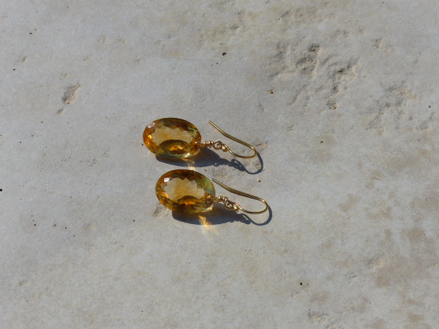 Citrine Cabochon Earrings