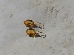 Citrine Cabochon Earrings