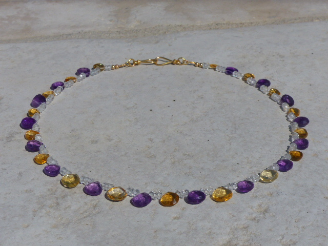 Citrine + Amethyst Necklace