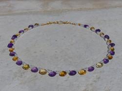 Citrine + Amethyst Necklace