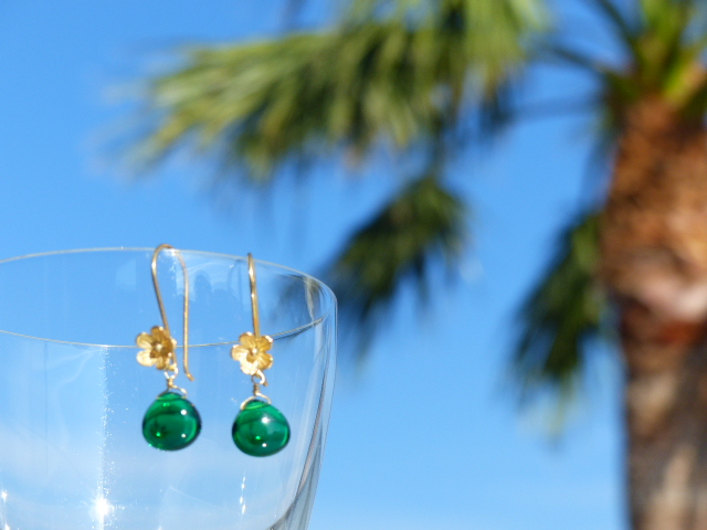 Chrome Green Quartz Earrings
