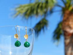 Chrome Green Quartz Earrings