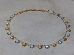 Green Amethyst + Citrine Necklace