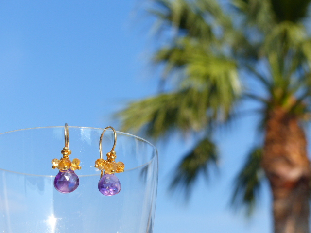 Amethyst + Citrine Earrings