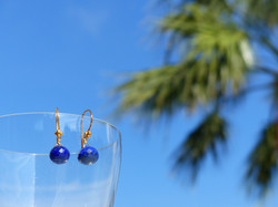 Lapis Lazuli Onion Earrings