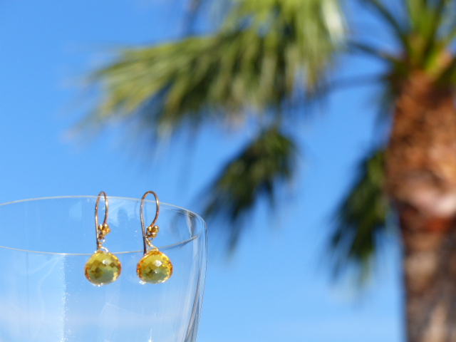 Citrine Quartz Earrings