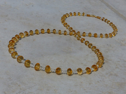 Extremely Beautiful Citrine Necklace