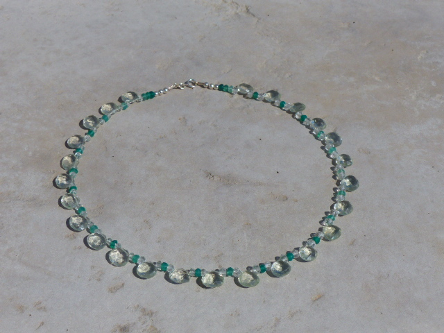 Green Amethyst + Green Onyx Necklace