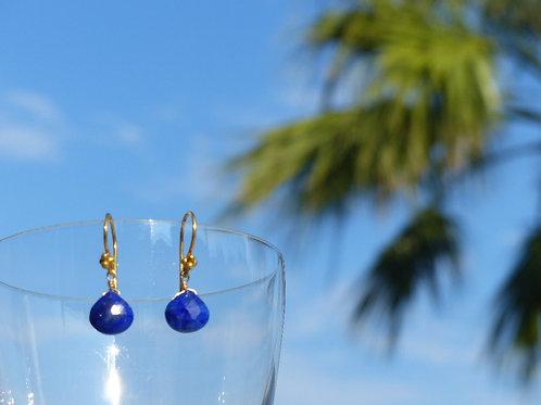 Lapis Lazuli Earrings on Vermeil Earwires