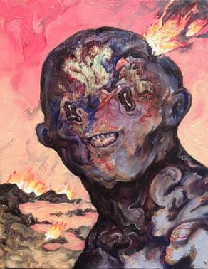 """Atomic Bikini"" oil on canvas 2017"