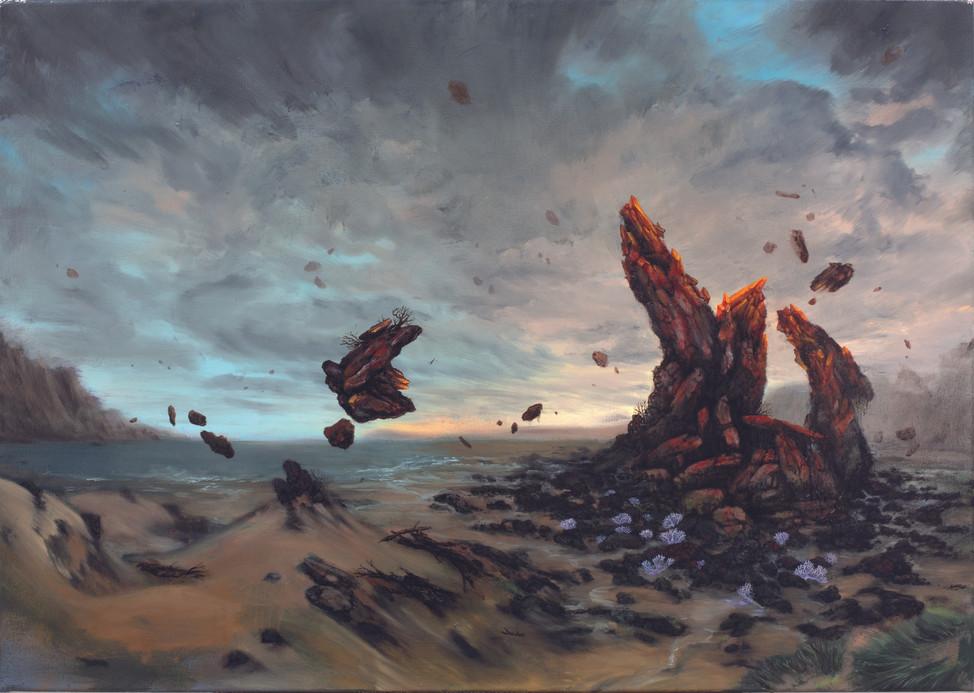 Destrudo Album Cover acrylics & oil on canvas 110cm x 70cm 2020