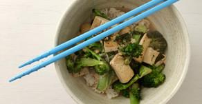 Tofu and Broccoli in a Miso Broth