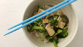 Tofu and Broccoli in a Miso Broth