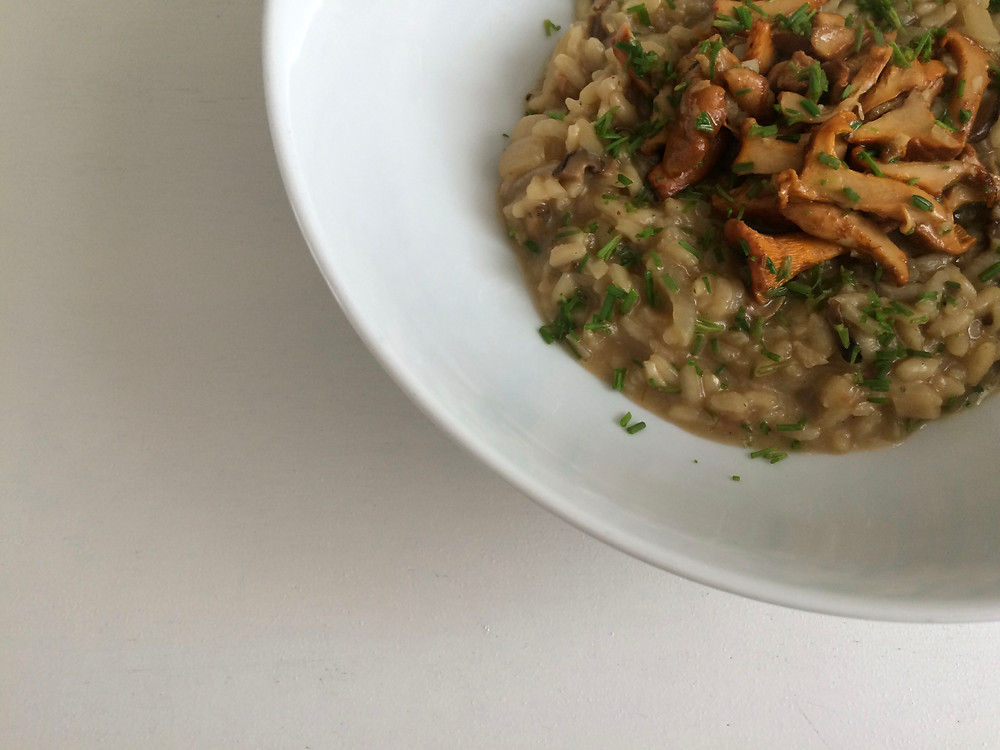 Girolle mushroom risotto