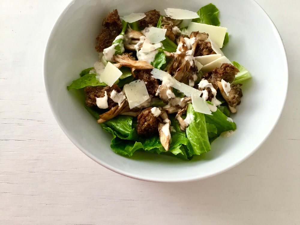 Hen of the woods caesar salad