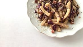 Pasta with radicchio and panchetta
