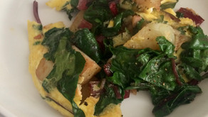 Potato and Chard Omelette