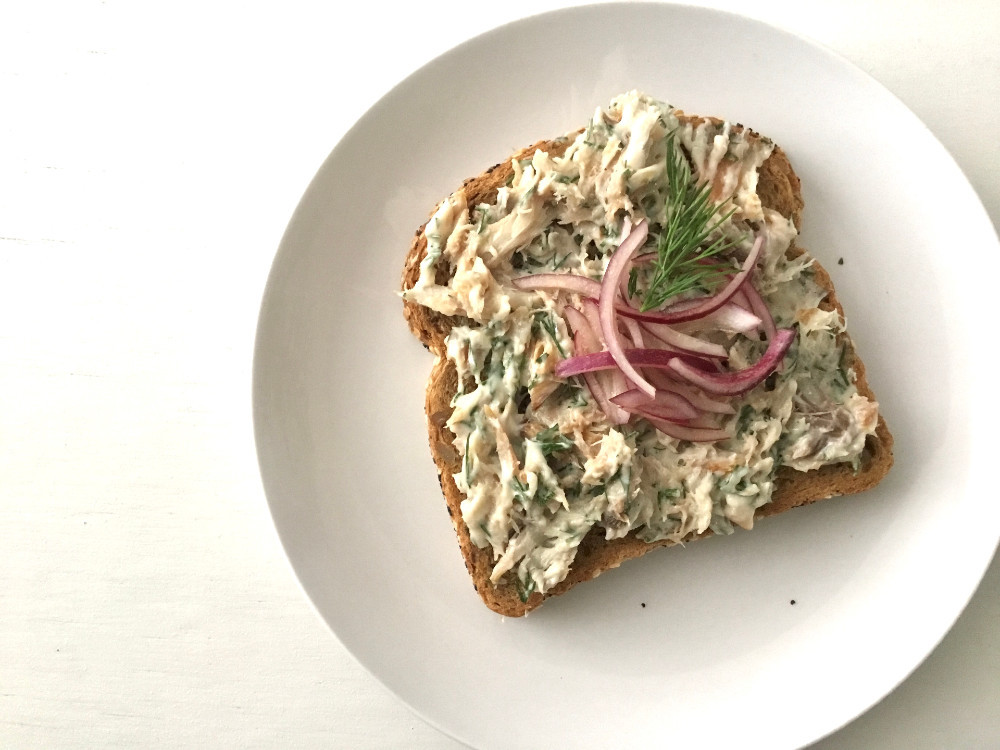 Smoked mackerel pâté on toast