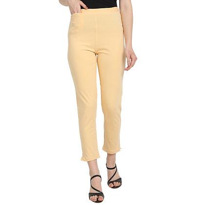 Murat For Women Cotton Lycra Blend Beige Color Kurti Pants