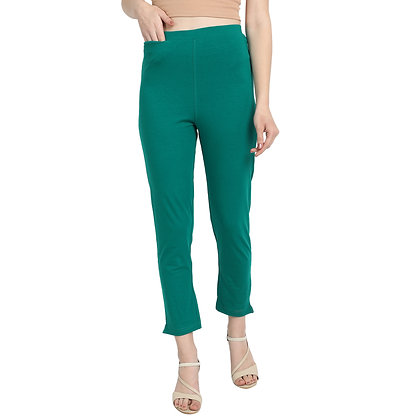 Murat For Women Cotton Lycra Blend Light Green Color Kurti Pants
