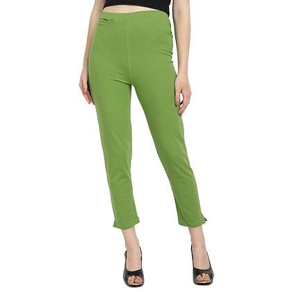 Murat For Women Cotton Lycra Blend Green Color Kurti Pants