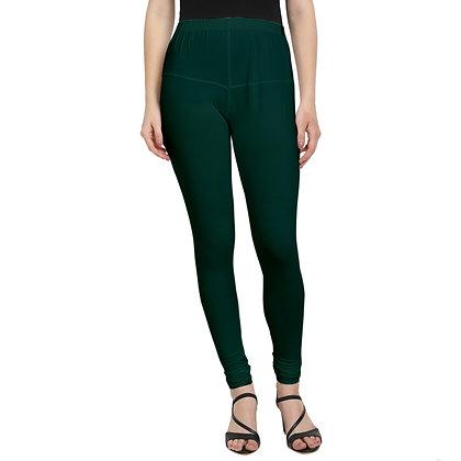 Murat For Women Regular Fit Cotton Lycra Blend Dark Green Color Leggings