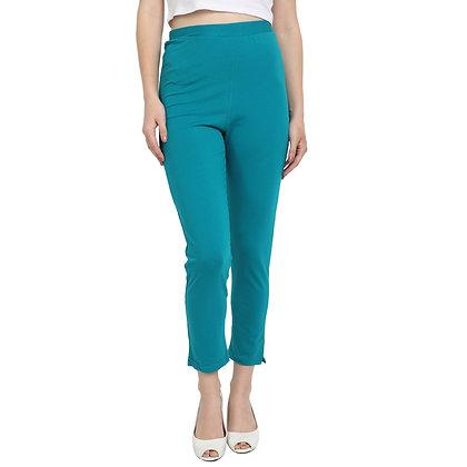 Murat For Women Cotton Lycra Blend Light Blue Color Kurti Pants