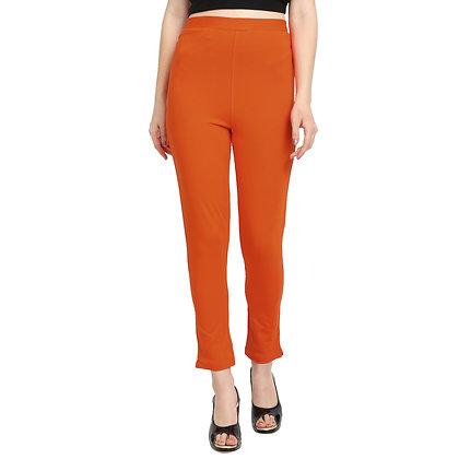 Murat For Women Cotton Lycra Blend Orange Color Kurti Pants