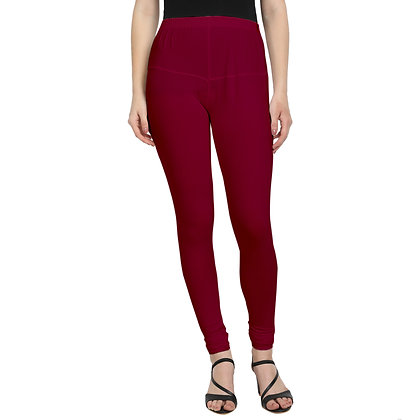 Murat For Women Regular Fit Cotton Lycra Blend Maroon Color Leggings