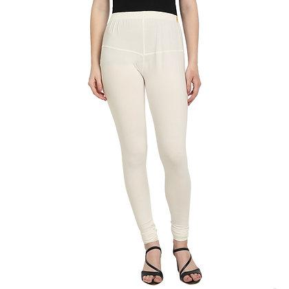 Murat For Women Regular Fit Cotton Lycra Blend Cream Color Leggings