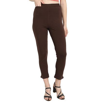 Murat For Women Cotton Lycra Blend Brown Color Kurti Pants