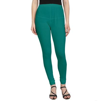 Murat For Women Regular Fit Cotton Lycra Blend Green Color Leggings