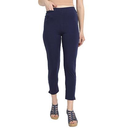 Murat For Women Cotton Lycra Blend Navy Blue Color Kurti Pants