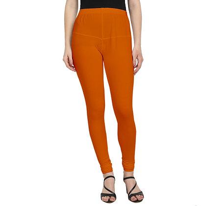 Murat For Women Cotton Lycra Blend Orange Color Jumbo Size Leggings