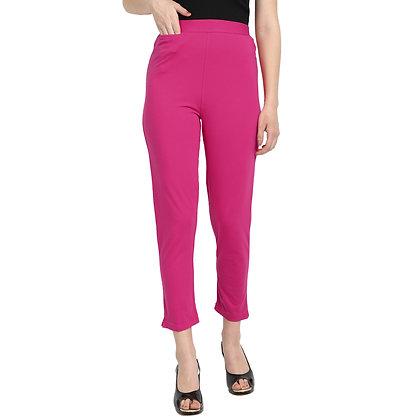 Murat For Women Cotton Lycra Blend Pink Color Kurti Pants