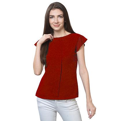 FabBucket Women's Cap sleeves regular fit top