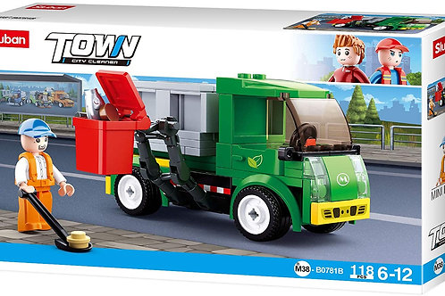 Sluban M38-B0781B Town - City Cleaner Garbage Truck 118 pcs