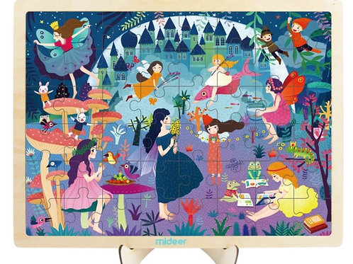 MiDeer Toys 48-piece Puzzle in Frame – Fairy Princess