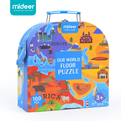 Mideer Our World Floor Puzzle 100pcs Exquisite Illustrations Educational Gift