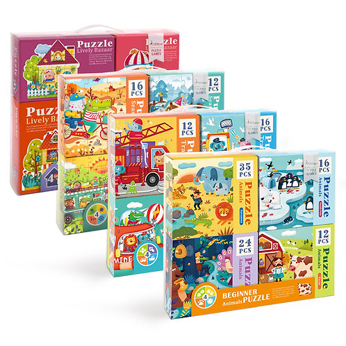 Mideer 4 In 1 Beginner Puzzle Set (4 small boxes per Set)