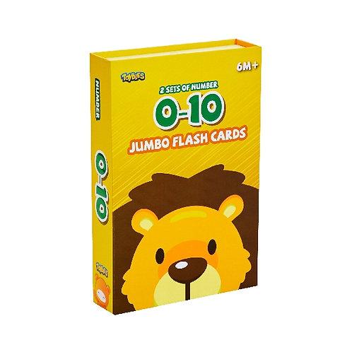 Toybies Jumbo Flash Card - Number 0-12 (English-Chinese-Thai)